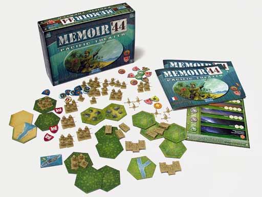 Memoir 44 Pacific Terrain Pack (T.O.S.) -  Days of Wonder