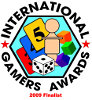 Nominiert für 2009 International Gamers Award