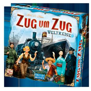Spielschachtel von Zug um Zug Weltreise