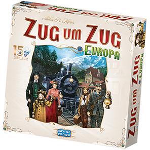 Spielschachtel von Zug um Zug Europa 15. Jubiläum