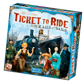 Ticket to Ride Rails & Sails Game Box