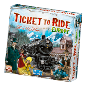 Ticket to Ride Europe – a board game by Alan R  Moon, published by