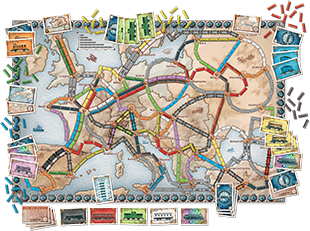 Ticket To Ride Europe A Board Game By Alan R Moon Published By
