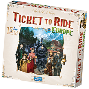 Ticket to Ride Europe 15th Anniversary Game Box