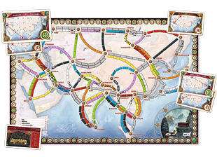 Ticket To Ride Asia A Board Game Expansion By Alan R Moon And