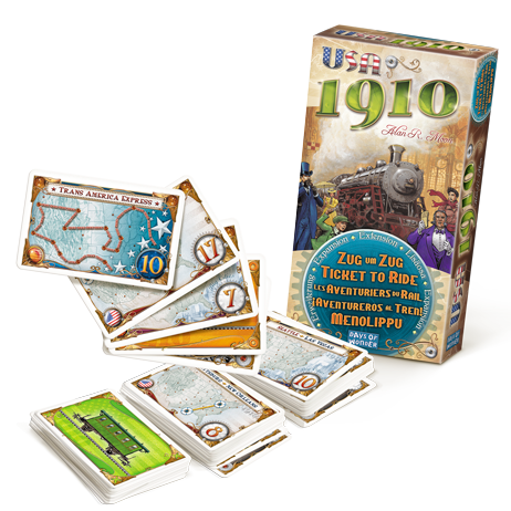 Ticket to Ride: USA 1910 Expansion (T.O.S.) -  Days of Wonder