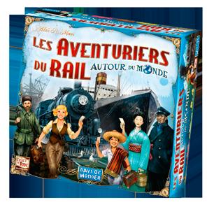 La boîte des Aventuriers du Rail Autour du monde