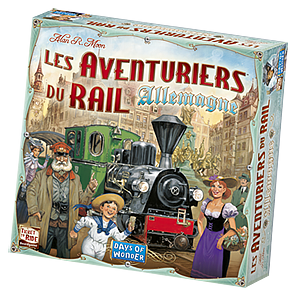 La boîte des Aventuriers du Rail Allemagne