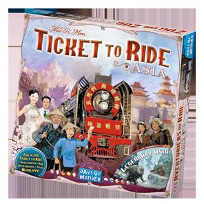 La boîte des Aventuriers du Rail Asie
