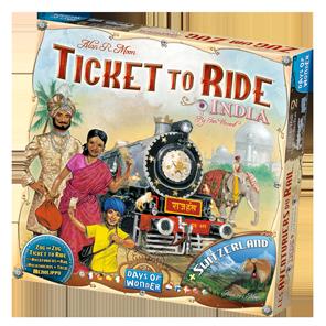 La boîte des Aventuriers du Rail Inde